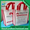 Выдвиженческие подгонянные мешки мешка Tote ткани логоса Non сплетенные многоразовые для мешков ткани /Promotion/Advertising /Eco-Friendly подарка Nonwoven с ручкой