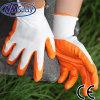 Nmsafety полиэстер Shell Оранжевый нитрил покрытием защитных перчаток