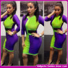 2014 Most Fashionable сексуальное Splicing Dress Fashion Bandage Dress (w-98633888)