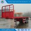 3 Wellen-Bauholz-Transport-Flachbett-Halb Schlussteil mit vertikalem Stapel für Ladung-Transport