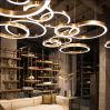 De antieke Lichte Lamp van de Tegenhanger van de Kroonluchter van het Project leiden van het Hotel van het Messing in verscheidene Verschillende Grootte