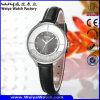 Kundenspezifische beiläufige Uhr-Leder-Uhr-Legierungs-Uhr (Wy-108C)