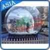 Globe de neige humain gonflable publicitaire géant de la publicité, photo Globes d'eau de neige, globes gonflables transparents de neige de Noël