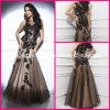 Perles Robes formelles Robes de soirée en dentelle noire T214209