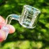 Пробки двойника ногтя кварца 100% Banger кварца реальной термально для куря трубы водопровода