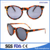 New Coming Fashion Round Demi Frame UV400 Óculos de sol de lente