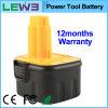 Black+Yellow 2.0ah NiMH Electric Tool Battery voor Dewalt DC9071