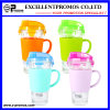 Handle (EP-LK57274H)の450ml Colorful Clear Glass Locked Drinking Cup