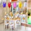 Modelo de cristal de cristal da flor dos presentes de casamento de Rosa