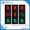 Girare in tondo e girare l'indicatore luminoso di sinistra del segnale stradale con verde giallo rosso 300mm del temporizzatore di conto alla rovescia di 2 colori di Digitahi 3