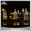 Quirlandes électriques extérieures de Noël DEL de chaîne de caractères de cornière de décoration