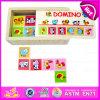 Brinquedo educacional de madeira do enigma do dominó de 2015 miúdos, jogo de madeira do jogo do dominó das crianças, jogo inteligente W15A005 do enigma dos dominós animais