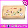 Insieme animale di domino dei 2015 giocattoli divertenti dei capretti, bambini d'istruzione dell'addestramento preliminare giocattolo di legno di domino, giocattoli di legno W15A026 di domino poco costoso di promozione