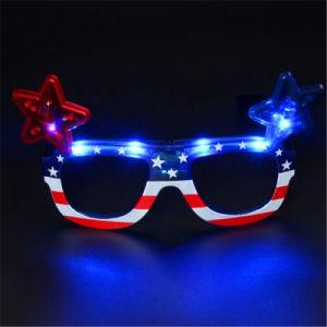 2bde5a8be59 China Star and Stripes American Flag LED Glasses - China LED Glasses ...
