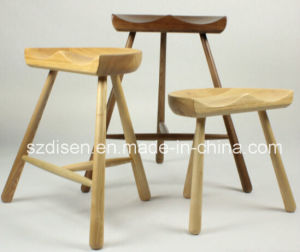 Modern Solid Wood 3 Leg Bar Stool (DS-L202)
