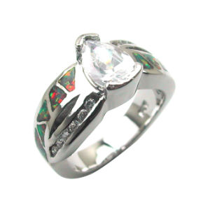 Fashion Jewelry-925 Sterling Silver Opal Rings