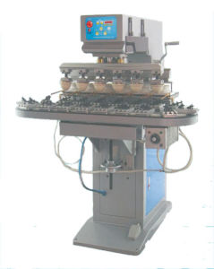 6-Color Pad Printing Machine With Conveyer (S6/C-T)