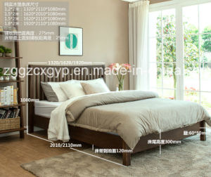Bedroom Furniture Wood Bed/Popular Style Wood Bed/High Quality Wood Bed Cx-Wb012 pictures & photos