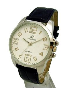 Alloy Watch With Leather Straps (AW-3015)