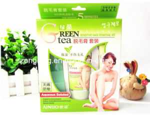 Ainuo Reen Tea Sensitive Hair Removal Cream Kit pictures & photos