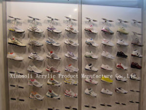 c5f263b3a4a Acrylic Wall Mounted Shoes Shelf Rack Display Stand Cabinet for Shop  Fitting (XBLC039)