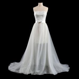 A Line Long Tail Beach Wedding Dress Ogt3017m