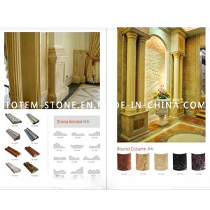 Design Cloumn Beige Marble Stone Floor Border Line