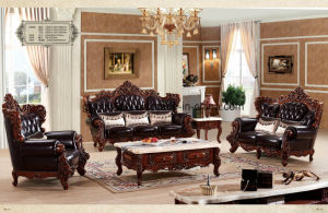 Factory Price Hot Beautiful Home Furniture Sofa Genuine Leather Set Egyptian Style