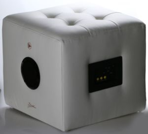 China Sound Home Lounge Wooden Cube Ottoman Foot Stool With Built In