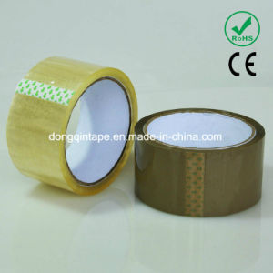 Single Sided Adhesive Brown Color No Bubble OPP Packing Tape