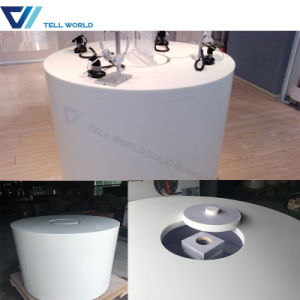 High Glossy White Customzied Office Aritifial Marble Stone Office Table pictures & photos