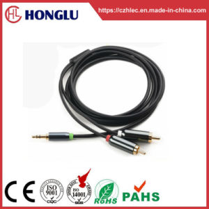 3.5mm Stereo Plug to 2RCA Plug Cable for Sound (HL-127)
