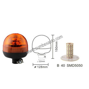 ECE R10 R65 Flexible Low Mount Micro SMD Amber LED Warning Beacon Strobe Light (SM808CB)