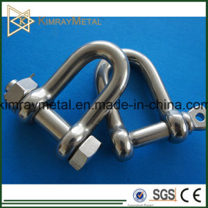Stainless Steel Chain Shackle with Safety Pin and Nut