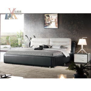 Leather Bed for Home with Night Stand (2089+3001A/B)