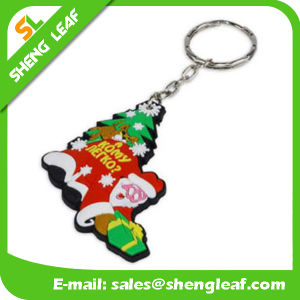 Supply Custom Santa Claus Rubber Soft PVC Key Chain (SLF-KC032)