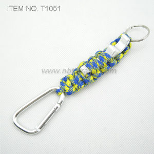 Paracord Bottle Opener with Carabiner and and Keyring