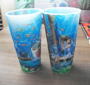 New Style with/Without Lid PP Plastic 3D Cup