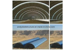 Prefabricated Steel Space Frame Structure for Dry Coal Shed