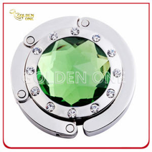 Hot Sale Round Shape Crystal Folding Bag Hook pictures & photos