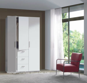 Modern 3 Door 3 Drawer Combi Triple Wooden Wardrobe (HF-EY08011)