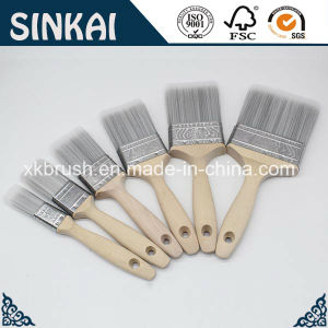 First Class Wood Painting Brush Natural Pig Bristle pictures & photos