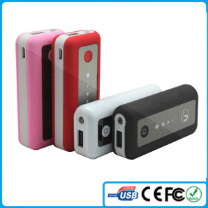 2015 China Mobile Battery Charger 5600mAh with LED Light Power Bank