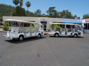 Electric Shuttle Bus Eg6158k with Trailer, 29 Seats pictures & photos