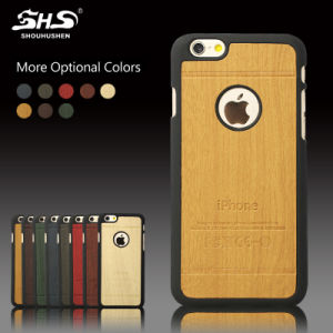 Good Quality Wooden Leather PU Mobile Phone Cover