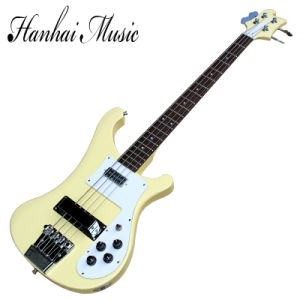 Hanhai Music/Light Yellow Ricken Style Electric Bass Guitar pictures & photos
