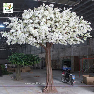 Uvg 13ft Decorative Artificial Tree With White Cherry Blossoms For Wedding Stage Decoration