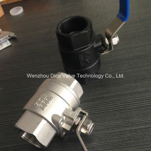 "Wcb Heavy Tyoe 1"" NPT Thread 2 Pieces Ball Valve with Lock pictures & photos"