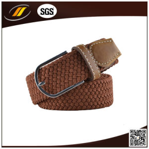 New Cheap Knitted Leather Belt Cloth Braided Belt (HJ1101)