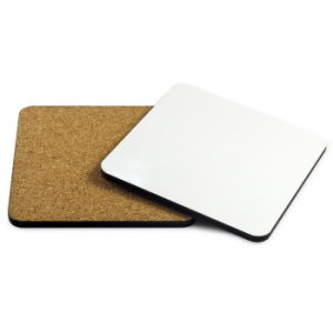 Sublimation MDF Blank Coasters with Cork Bottom From China